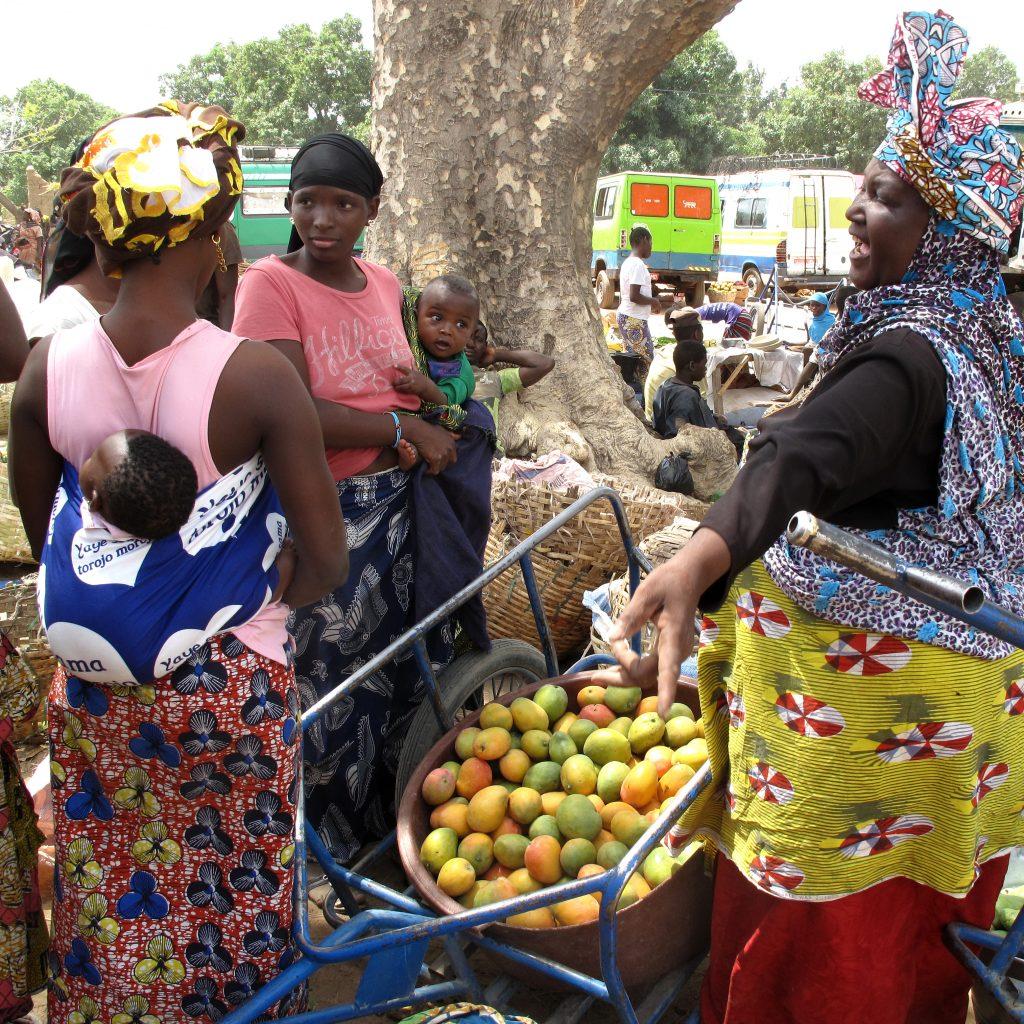 Mangos, der Verkauf